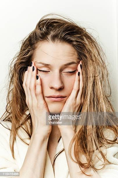 bad hair day - jet lag stock pictures, royalty-free photos & images