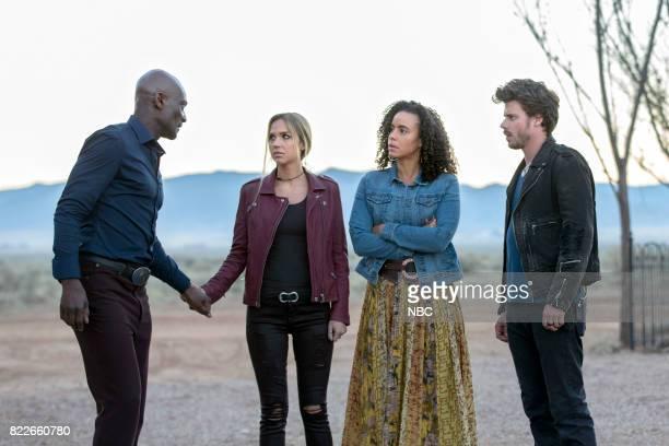 MIDNIGHT TEXAS 'Bad Moon Rising' Episode 102 Pictured Peter Mensah as Lemuel Arielle Kebbel as Olivia Parisa FitzHenley as Fiji Francois Arnaud as...