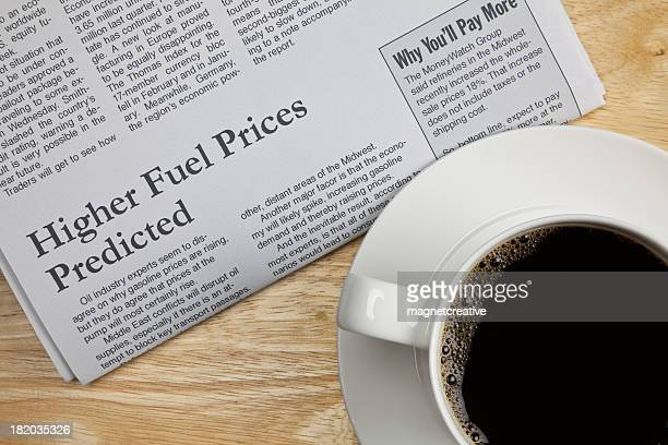 bad news about high fuel prices - article stock pictures, royalty-free photos & images