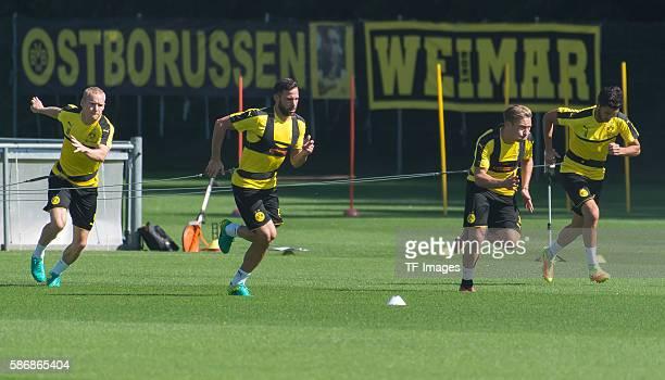 Bad Ragaz, Schweiz , Trainingslager BV Borussia Dortmund, BVB, Sebastian Rode , Gonzalo Castro , Felix Passlack und Nuri Sahin