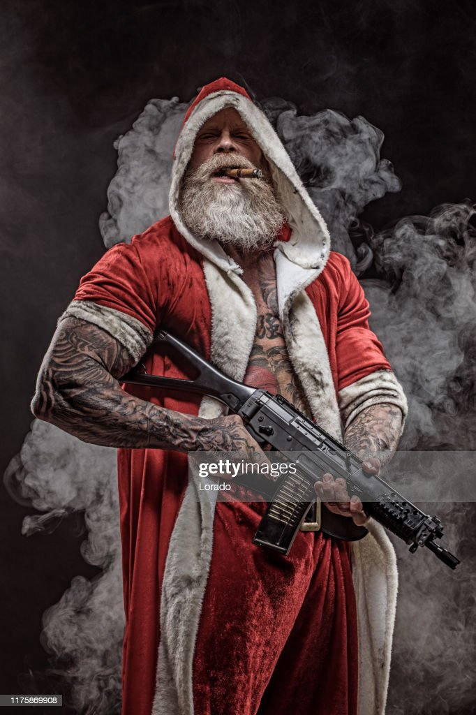 bad-santa-claus-with-gun-picture-id11758
