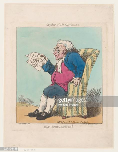 Bad Speculation August 10 1799 Artist Thomas Rowlandson