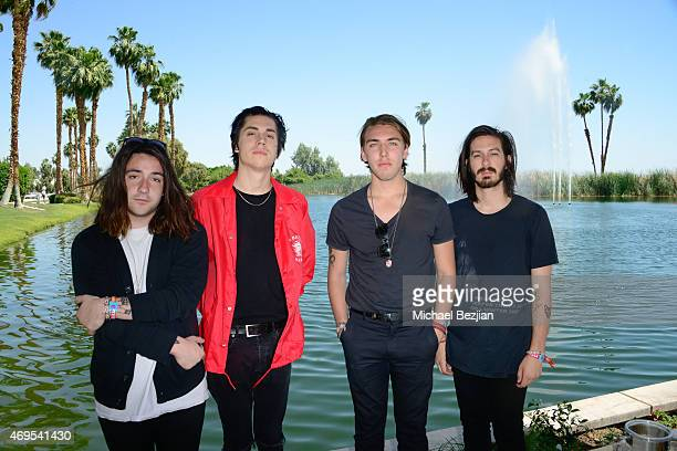 Bad Suns attend a private brunch hosted by Tom Windish at Soho Desert House on April 12, 2015 in La Quinta, California.