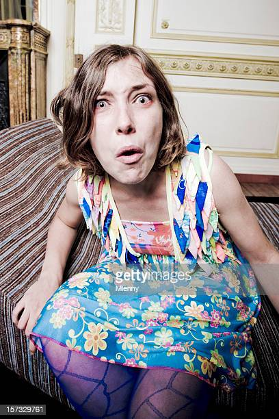 bad surprise - ugly face stock photos and pictures
