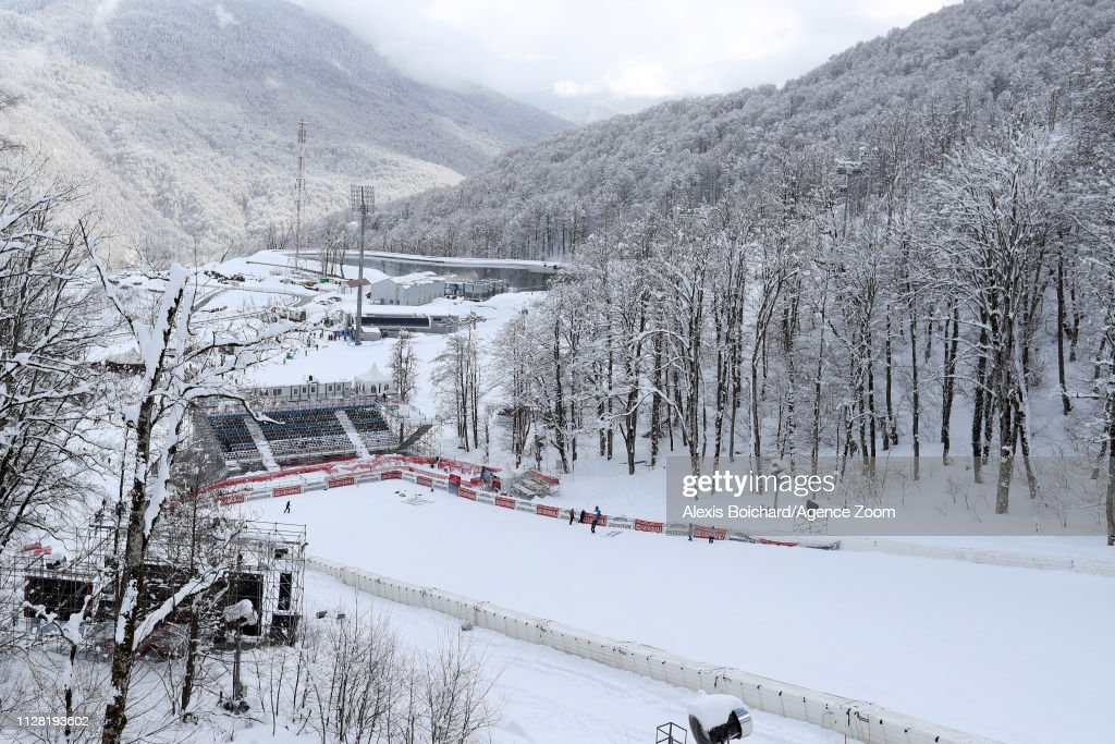 RUS: Audi FIS Alpine Ski World Cup - Women's Downhill Training