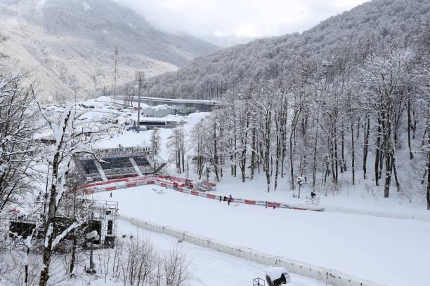 RUS: Audi FIS Alpine Ski World Cup - Women's Downhill Training