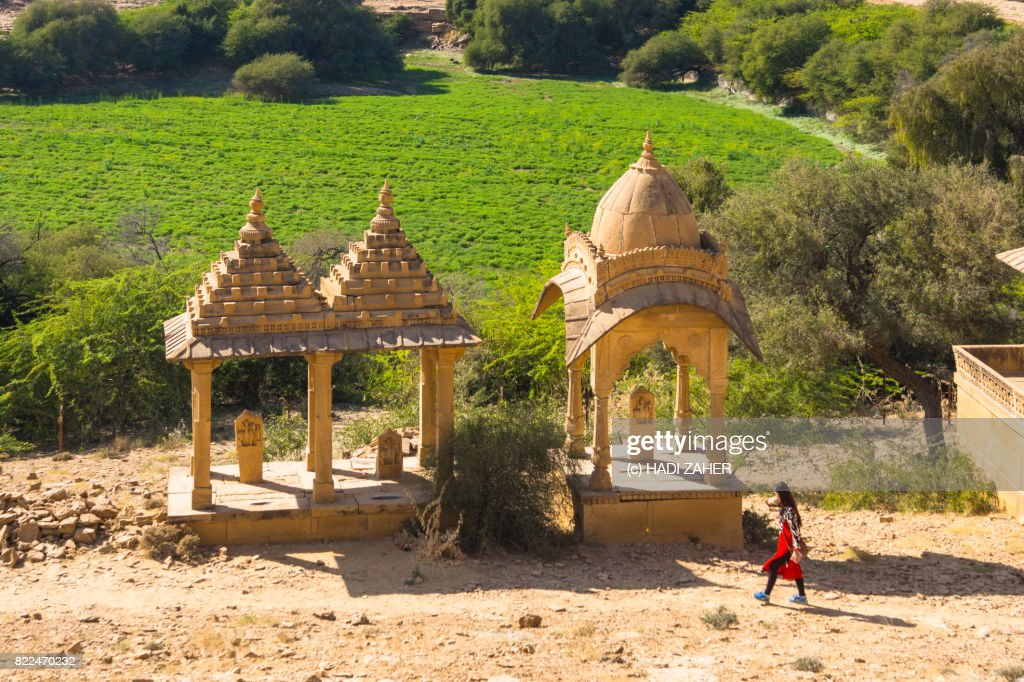 Bada Bagh Cenotaphs | Jaisalmer | Rajasthan | India : Stock Photo