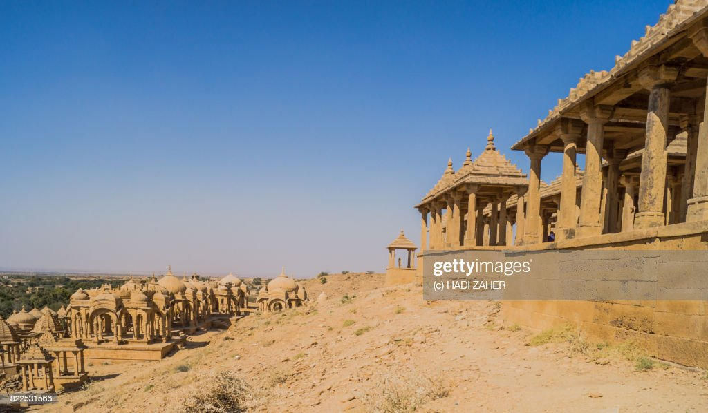 Bada Bagh Cenotaphs | Jaisalmer | Rajasthan | India : Stock Photo