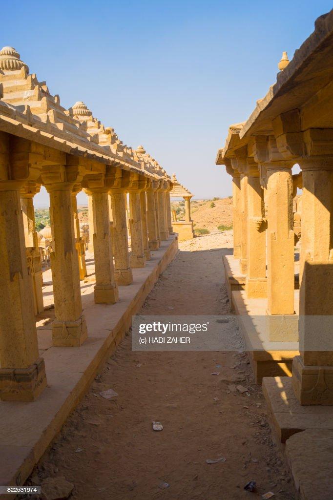 Bada Bagh Cenotaphs   Jaisalmer   Rajasthan   India : Stock Photo