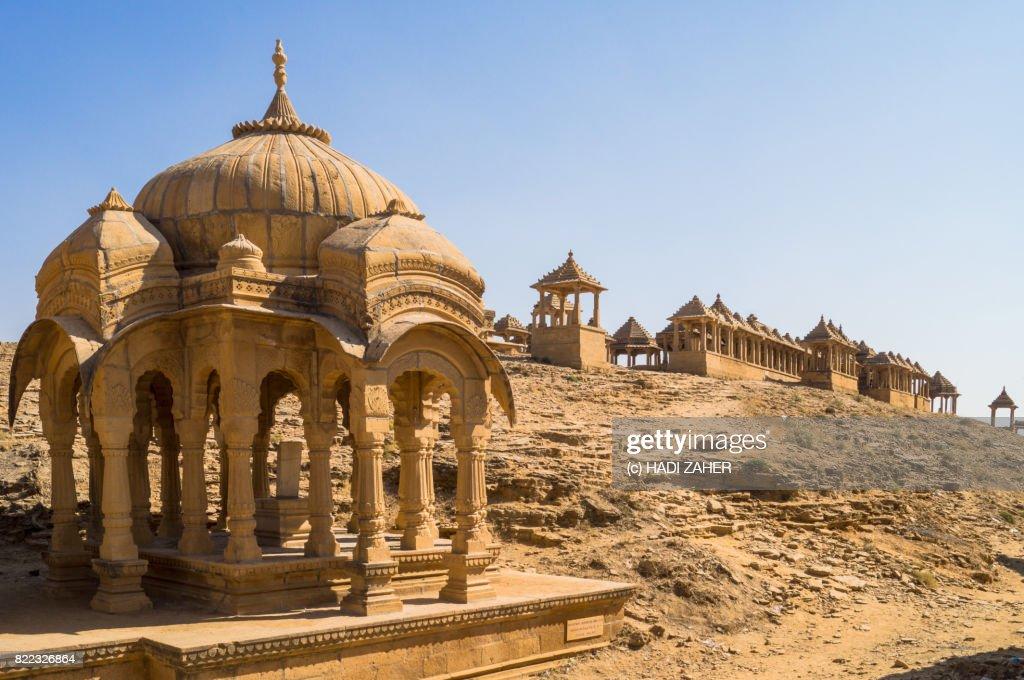 Bada Bagh Royal Cenotaphs   Jaisalmer   Rajasthan   India : Stock Photo