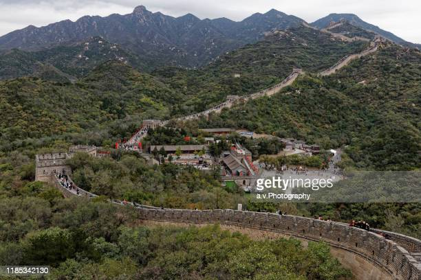 badaling, great wall in beijing. - andre vogelaere stock pictures, royalty-free photos & images