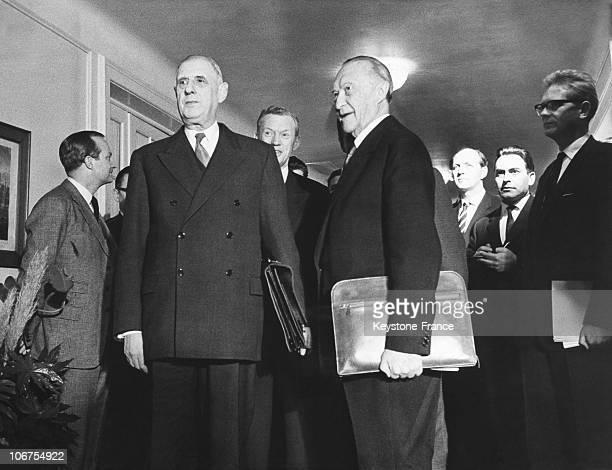 Baden Baden, Encounter Between General De Gaulle And Konrad Adenauer In February 1962