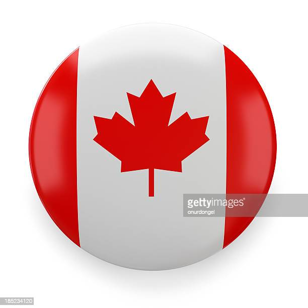 badge - canadian - canadian flag stock pictures, royalty-free photos & images