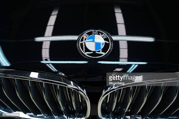 AG badge is displayed on the company's 7Series sedan at the assembly line of a PT Gaya Motor factory in Jakarta Indonesia on Wednesday Nov 30 2016...