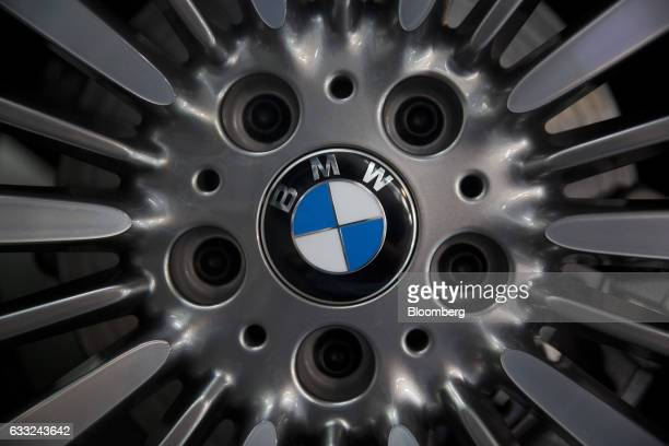 AG badge is seen on a wheel of a BMWX5 xDrive40e M Sport plugin hybrid vehicle at the company's assembly plant in Amata Rayong province Thailand on...
