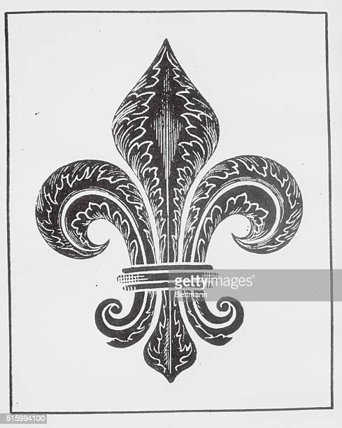 Badge of the FleurdeLis Pen and ink drawing 1909