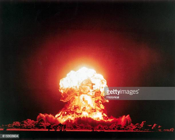 Badger part of Operation UpshotKnothole was a 23 kiloton tower shot fired April 18 1953 at the Nevada Test Site