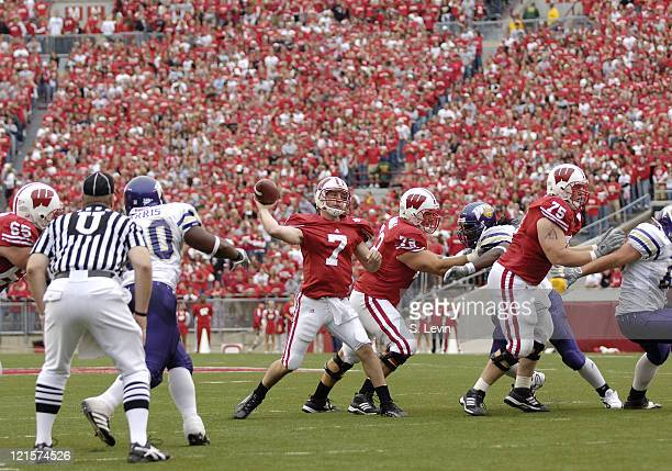 Badger quarterback John Stocco during the game between the Wisconsin Badgers and the Western Illinois Leathernecks at Camp Randall Stadium in Madison...