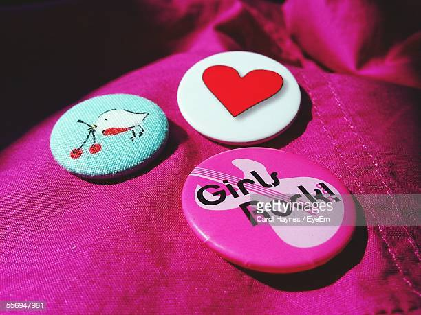 Badges On Pink Fabric