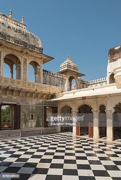 Badi Charur Chowk Courtyard City Palace Udaipur Rajasthan India