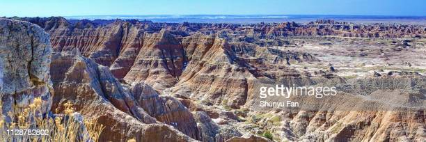 badlands nationalpark, south dakota - sioux indianer stock-fotos und bilder