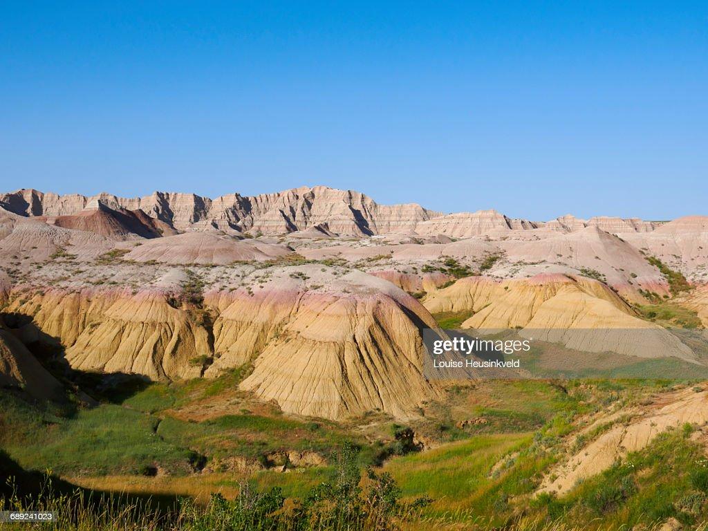 Badlands National Park, South Dakota : Stock Photo