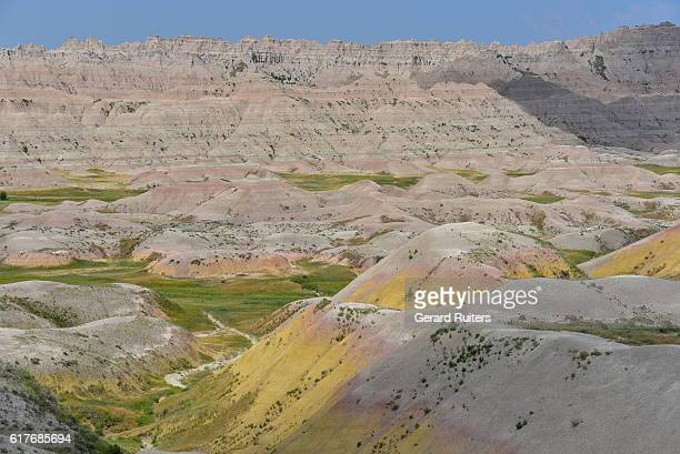 badlands national park, south dakota, usa - sioux indianer stock-fotos und bilder