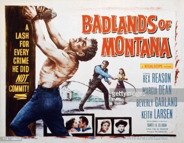 Badlands Of Montana lobbycard Rex Reason 1957