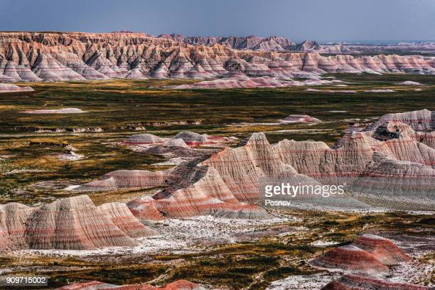 badlands of soth dakota - south dakota stock pictures, royalty-free photos & images