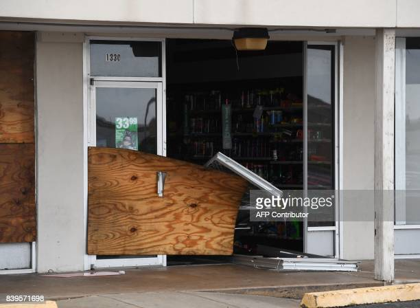 A badly damaged store after Hurricane Harvey hit Rockport Texas on August 26 2017 Hurricane Harvey left a trail of devastation Saturday after the...
