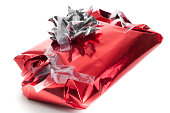 Badly wrapped, messy Christmas present
