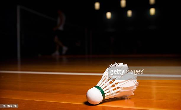 badminton birdie - badminton stock photos and pictures