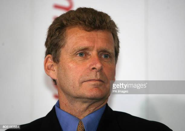Badminton England Performance Director Ian Moss talks to the media during a press conference at the National Badminton Centre Milton Keynes