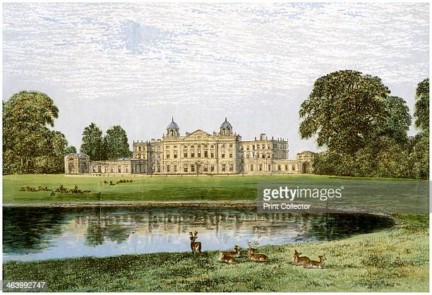 Badminton House Gloucestershire home of the Duke of Beaufort c1880 Badminton has been the seat of the Dukes of Beaufort since the 17th century The...