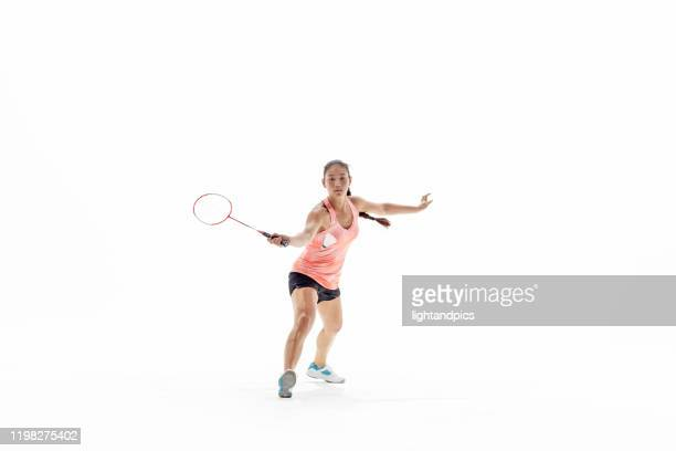 badminton in studio - スポーツ バドミントン ストックフォトと画像