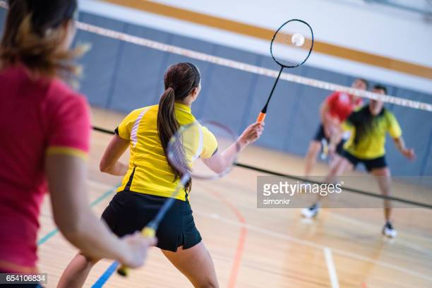 Double mixte de badminton