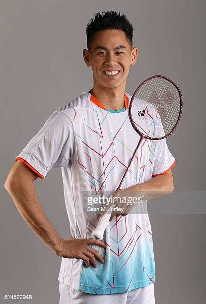 Badminton player Howard Shu poses for a portrait at the 2016 Team USA Media Summit at The Beverly Hilton Hotel on March 8 2016 in Beverly Hills...