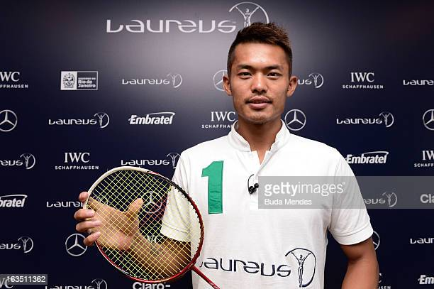 Badminton player Lin Dan during day 3 of the 2013 Laureus World Sports Awards on March 11 2013 in Rio de Janeiro Brazil