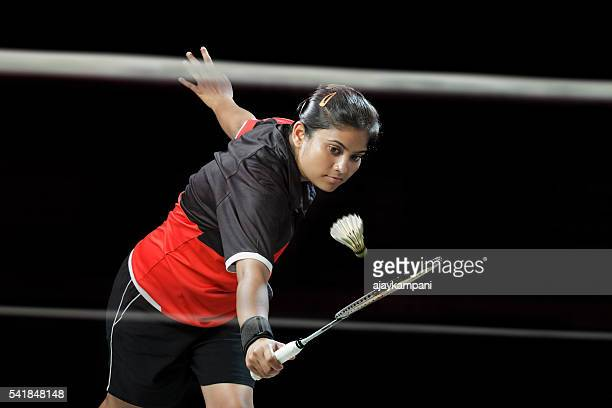 badminton player - badminton sport stock photos and pictures