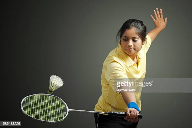 badminton player - badminton stock photos and pictures