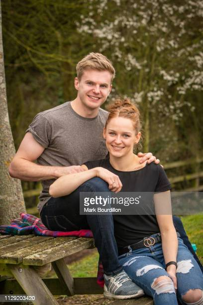 Badminton players Marcus Ellis and Lauren Smith are photographed on February 28 2019 in near Longtown England