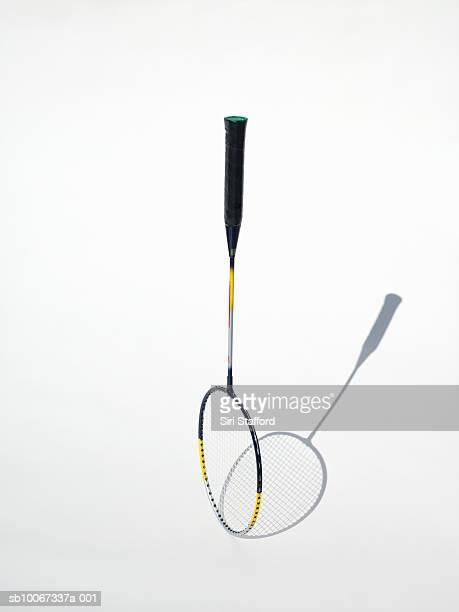 Badminton racket on white background