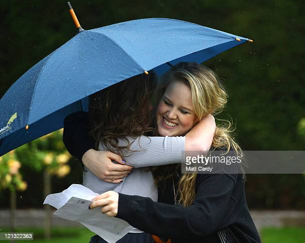 Badminton School sixth form pupils Lucy Warden who got 3 A* and is going to study English at Durham and Madeline Sunter who got 2 A* and 1 B and is...