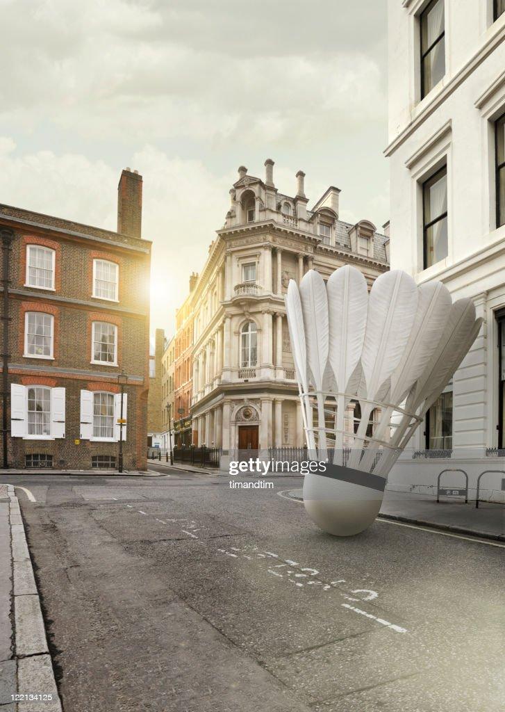 badminton Shuttlecock in . London : Stock Photo