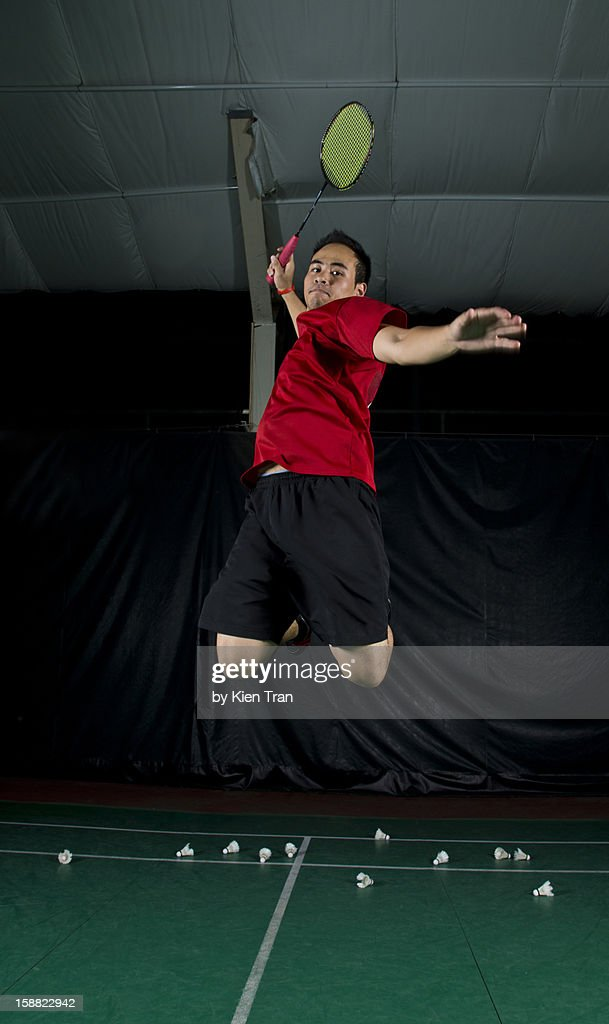 Badminton Smash : Stock Photo