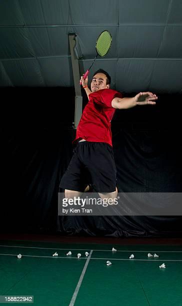 badminton smash - badminton smash stock pictures, royalty-free photos & images