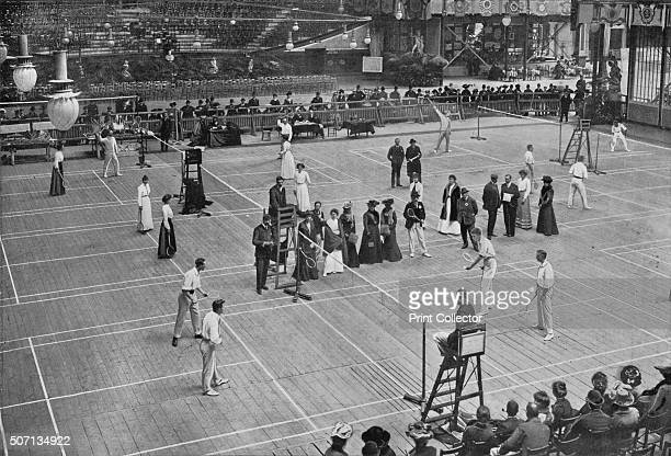 A Badminton Tournament at the Crystal Palace' The All England Championships badminton tournament held at the Crystal Palace London in 1902 From The...