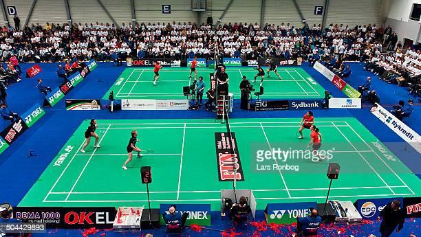 Badmintonligaen Teamfinale TSS Skælskør vs Greve Badminton FrederiksbergHallen ©Lars Rønbøg / Frontzonesport