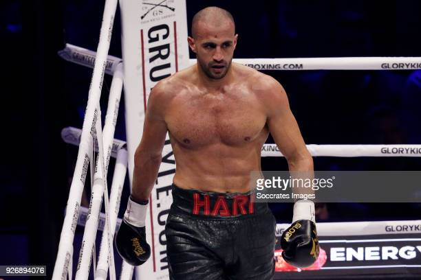 Badr Hari vs Hesdy Gerges during the match between Badr vs Hesdy v GLORY 51 SuperFight Series at the Ahoy on March 3 2018 in Rotterdam Netherlands