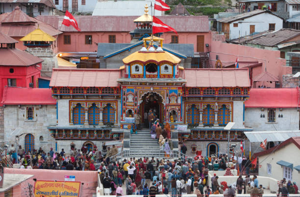 badrinath temple, uttarakhand, india, asia - badrinath temple stock pictures, royalty-free photos & images